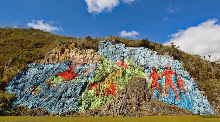 mural de la prehistoria cuba mogotes vinales vallei